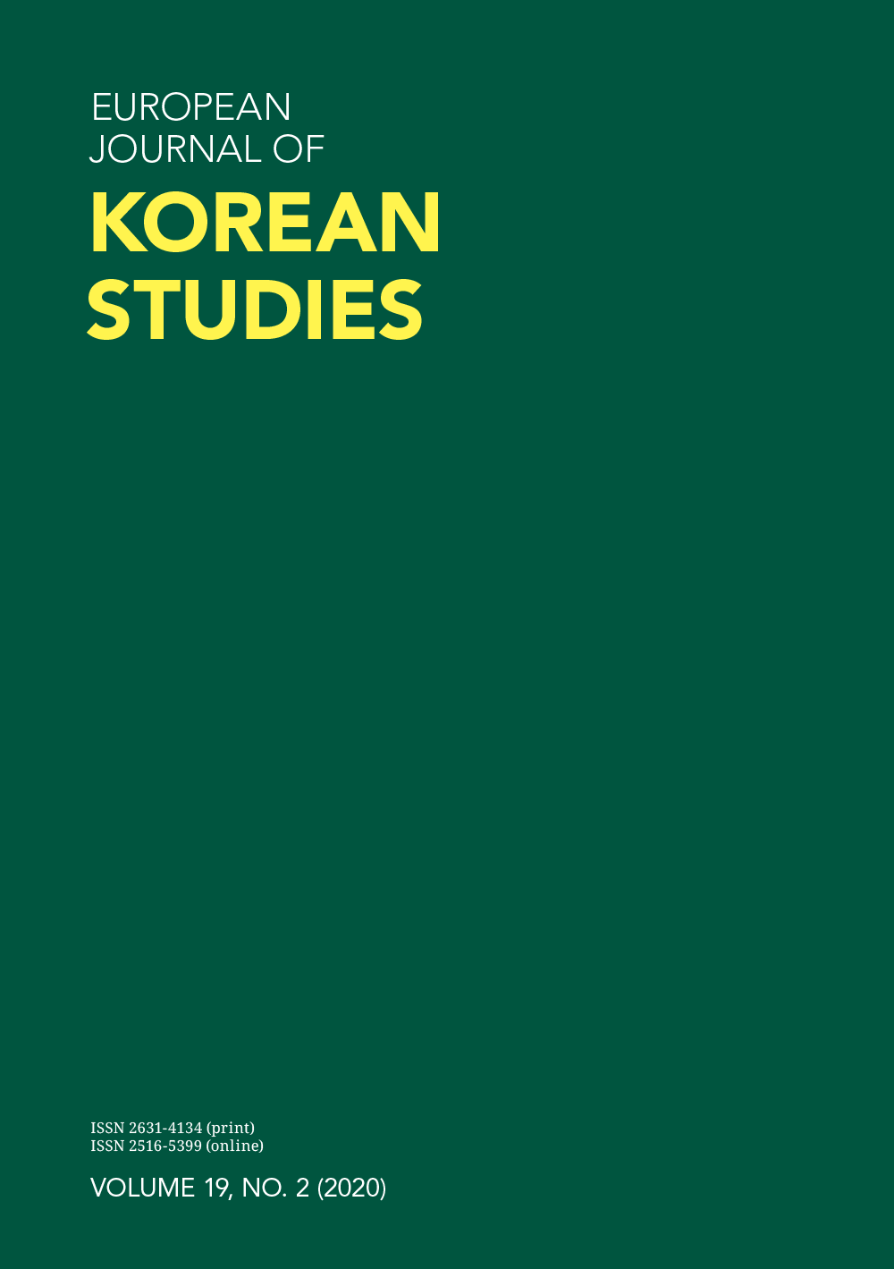 European Journal of Korean Studies – Vol 19.2